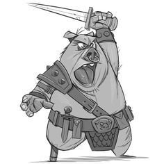 Warrior Piggy sketch ★ || CHARACTER DESIGN REFERENCES (www.facebook.com/CharacterDesignReferences & pinterest.com/characterdesigh) • Love Character Design? Join the Character Design Challenge (link→ www.facebook.com/groups/CharacterDesignChallenge) Share your unique vision of a theme every month, promote your art and make new friends in a community of over 25.000 artists! || ★
