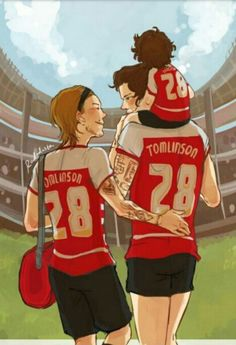 This Larry Stylinson fan art makes me want to cry. Louis and Harry with a kid… One Direction Fan Art, One Direction Drawings, One Direction Cartoons, One Direction Louis, One Direction Quotes, Larry Stylinson, Love My Boys, My Love, Larry Shippers