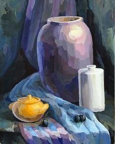 Учебный натюрморт, работа выполнена нашей ученицей. #живопись #натюрморт #темпера #творчество #картина #художник #арт #искусство #painting #picture #art #paint #instaart #instamoment #artist #color #stilllife