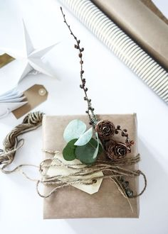 simple and natural gift wrapping ideas | scandinavian | love song | Bloglovin'