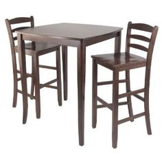 Winsome Inglewood High/Pub Dining Table with Ladder Back Stool, 3-Piece (Misc.)  http://mobilephone.10h.us/amazon.php?p=[PRODUCT_ID  B005NBWKKO
