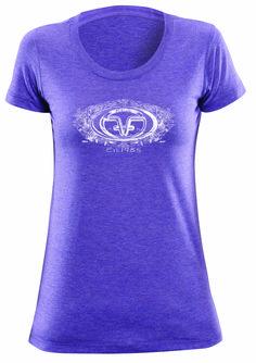 Flying Fisherman ladies logo tee in purple tri-blend.
