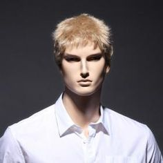 Capless Synthetic Short Straight Men's Wigs *free ship