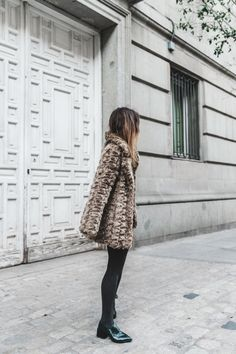 Faux_Fur_Coat-Boho_Skirt-Formula_Joven-Loafers-Outfit-Street_Style-Collage_Vintage-10 Find Your Friends, Loafers Outfit, Adventure Style, Collage Vintage, Boho Skirts, Fur Coat, Street Style, Style Inspiration, My Style