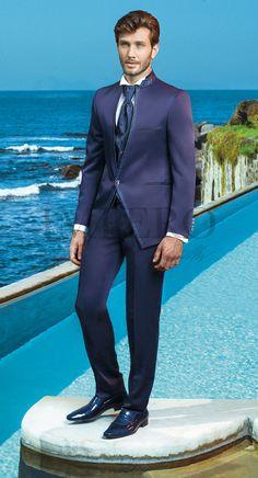 MAS 3004 #sposo #groom #suit #abito #wedding #matrimonio #nozze #blu #blue