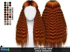 Coupure Electrique: Anto`s Luna hair retextured - Sims 4 Hairs - http://sims4hairs.com/coupure-electrique-antos-luna-hair-retextured/