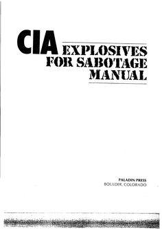 CIA Explosives for Sabotage Manual Survival Books, Survival Weapons, Survival Prepping, Survival Gear, Survival Skills, Survival Stuff, Emergency Preparedness, Emergency Planning, Emergency Kits