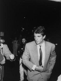 John F. Kennedy Jr., Arriving for His Aunt Lee Radziwills Wedding to ...