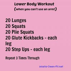 My Leg Workout while I'm recovering from shoulder surgery!  Add weights if you can!