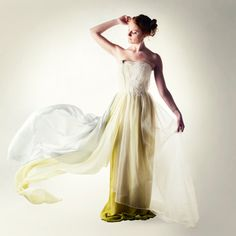 Wedding dress Green Wedding dress Fairy wedding by larimeloom