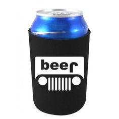 Coolie Junction Black Jeep Funny Beer Can Coolie
