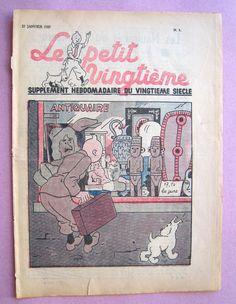 Tintin Herge LE Petit Vingtieme NO 3 1937