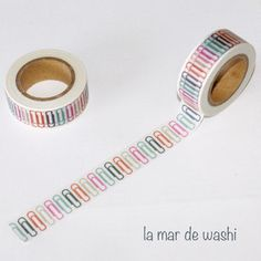 Washi Tape clips colores