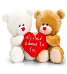 Cute Teddy Bear Pics, Teddy Bear With Heart, Teddy Bear Images, Teddy Bear Cartoon, Big Teddy Bear, Teddy Day, Teddy Bear Pictures, Photo Ours, Valentines Day Teddy Bear