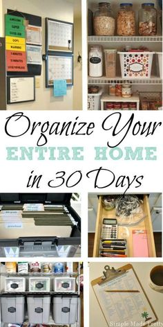 I will help you de-clutter, organize and simplify every space in your home in my eBook, Your Home Made Simple in 30 Days!