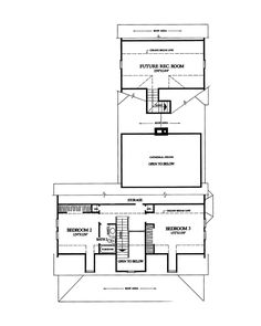Traditional House Plan Second Floor - 128D-0003   House Plans and More