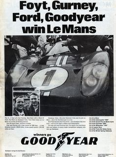 Dan Gurney Explains What it Took to Win Le Mans and F1 One Week Apart