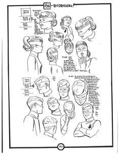 Cartoon Concept Design: Alex Toth Model Sheets-Space Ghost