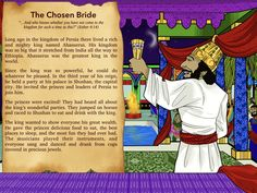 Learn more about Esther - The Chosen Bride in a fun creative way. Bible stories, puzzles, worksheets and coloring pages all available for free download.