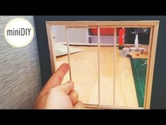 Craft an easy miniature sliding terrace door for your dollhouse.