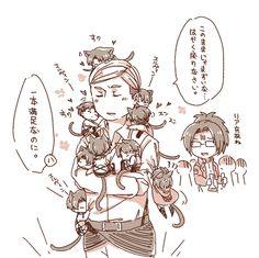 Eruri-Erwin/kitty Levi (part 4)-Shingeki no Kyojin (Attack on Titans)  Artist: http://www.pixiv.net/member.php?id=983775