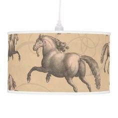 Elegant Galloping Spanish Horse Hanging Pendant Lamps