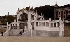 Aproximadament 1927, coloreada por Isabel Lopez Biurrun San, Mansions, House Styles, Decor, Antique Photos, Cities, Dekoration, Decoration, Manor Houses