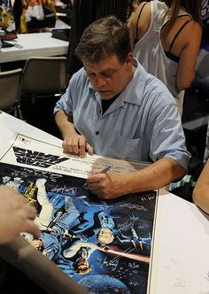 Mark Hamill signing silent auction items Charity Fundraising Packages by Charity Fundraising Packages www.charityfundra...