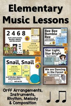 My music lesson plans are finished for working with quarter notes and eighth notes! I LOVE the engaging interactive music activities and the Orff arrangements included! Perfect for melody work using sol mi and la. Music Classroom, Music Teachers, Classroom Ideas, Orff Arrangements, Music Education Activities, Elementary Music Lessons, Music Lesson Plans, Teaching Music, Teaching Ideas
