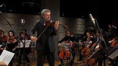 """Danilo Rossi e l'Orchestra del Conservatorio della Svizzera italiana durante le registrazioni del cofanetto CD+DVD Limenmusic """"The Classical Viola with Orchestra"""""""