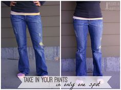 how to make your pants skinnier without sewing
