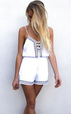 Benechico amy jumpsuit embroidered detailing jumpsuit adjustable low cut neckline and straps with tassel ties and a silky lining