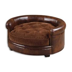 Uttermost Lucky Pet Bed - The Lucky Pet Bed provides the ideal place for your pet to put his paws up. Crafted from leather with polyester filling, this pet bed assures lasting ...
