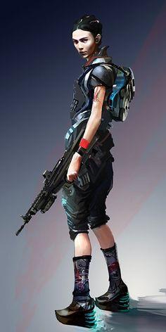 ArtStation - Sci fi female, kate yu