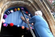 Getting stuck in - helping to install the Penicuik Community CraftBomb in 2014