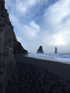 South Coast of Iceland Black Sand Beach