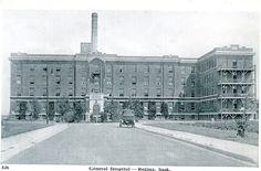 General Hospital, Regina, Saskatchewan | saskhistoryonline.ca Saskatchewan Canada, O Canada, The Great White, Laundry Hacks, The Province, General Hospital, Hospitals, Landscape Photos, Historical Photos