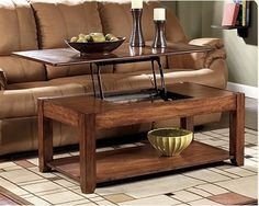Hide Your Remotes & Controllers Inside Lift-top Coffee Tables