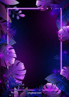 Fondo De Hojas Tropicales De Neón Azul Púrpura Iphone Wallpaper Photos, Framed Wallpaper, Flower Phone Wallpaper, Iphone Background Wallpaper, Galaxy Wallpaper, Neon Light Wallpaper, Purple Wallpaper, Purple Backgrounds, Flower Backgrounds