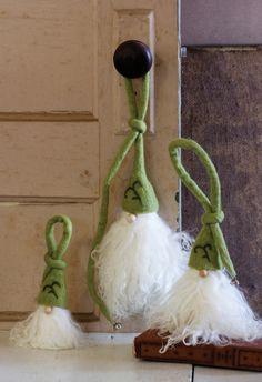 fuzzy santa hangers with whispy beards