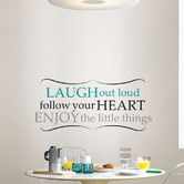 Found it at Wayfair - Art Kit Laugh Out Loud Quote Wall Decal