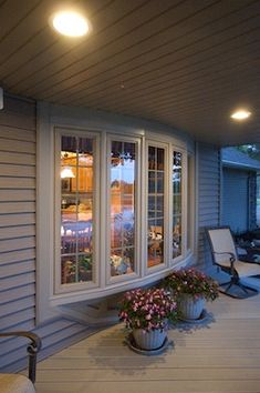 Want this winfow! At Potomac View Energy, we are experts in Maryland bay and bow window installation, along with vinyl replacement window installation for any part of your home. Contact us today for a free quote! Home, Windows, House Front, Windows Exterior, House Exterior, Living Room Windows, Bow Window, Vinyl Replacement Windows, Energy Efficient Windows