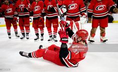 Andrei Svechnikov of the Carolina Hurricanes participates in the Storm Surge with teammates after a victory over the Philadelphia Flyers during an NHL game on December 2018 at PNC Arena in. Get premium, high resolution news photos at Getty Images Ice Hockey Teams, Hockey Baby, Hockey Players, Hurricanes Hockey, Storm Surge, Nhl Games, Carolina Hurricanes, Philadelphia Flyers, Guys