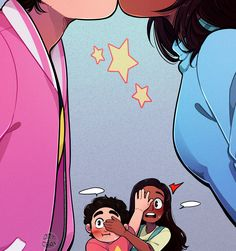 - - Did Simon and his girlfriend were ever caught by his moms doing something they dont want them to see? Connie Steven Universe, Steven Universe Anime, Steven Universe Ships, Steven Universe Characters, Steven Universe Wallpaper, Steven Universe Drawing, Steven Universe Funny, Steven Universe Fan Fusions, Universe Images