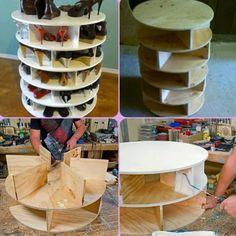 Bricolage trop la classe comme meuble a chaussures!!