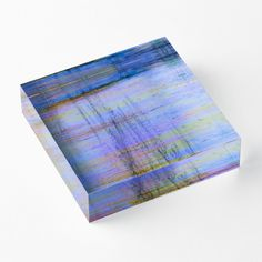'Linear Composition' Acrylic Block by Faye Anastasopoulou Purple Living Room Furniture, Decorative Throw Pillows, Decorative Items, Home Office Accessories, Theme Pictures, Colourful Living Room, Fancy Houses, Linear Pattern, Block Wall