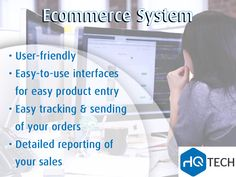 The HQ Tech #Ecommerce system has user-friendly, easy-to-use interfaces for easy product entry, easy tracking and sending of your orders, and detailed reporting of your sales.    Contact us: 0118051609 | info@hqtech.co.za #management #ecommerce #website #webdevelopment #HQtech #business #IT #sales #technology #HQ #tech