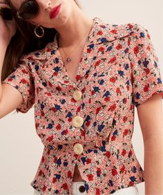 IENA|ROUJE Fleurette JOSE◆ Jeanne Damas, Summer Outfits, Casual Outfits, Fashion Outfits, Granny Shoes, Ankara Blouse, Girl Trends, Everyday Dresses, Parisian Style
