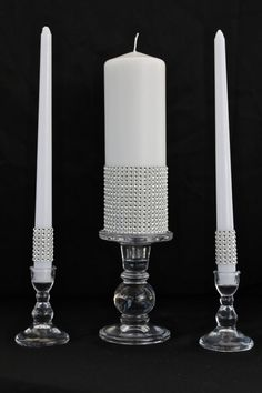 White pillar unity candle embellished with by TheEventShoppe, $35.00