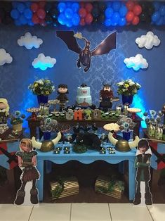 fiesta infantil tema como entrenar a tu dragon Dragon Birthday Parties, Dragon Party, Birthday Party Themes, Karate Birthday, 5th Birthday, Toothless Party, Viking Birthday, Knight Party, Dinosaur Party